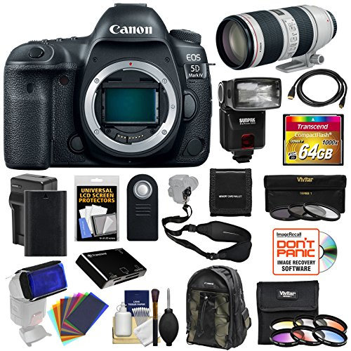 Canon EOS 5D Mark IV 4K Wi-Fi Digital SLR Camera Body with 7