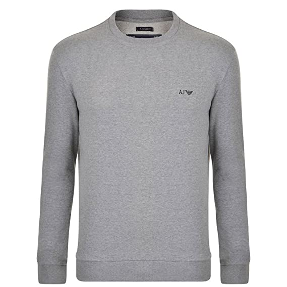 a0269718fa Armani AJ Men's Comfort Fit Sweatshirt 06M28RN L Grey: Amazon.co.uk ...