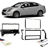 fits nissan sentra 2007-2012 single or double din stereo radio install dash  kit