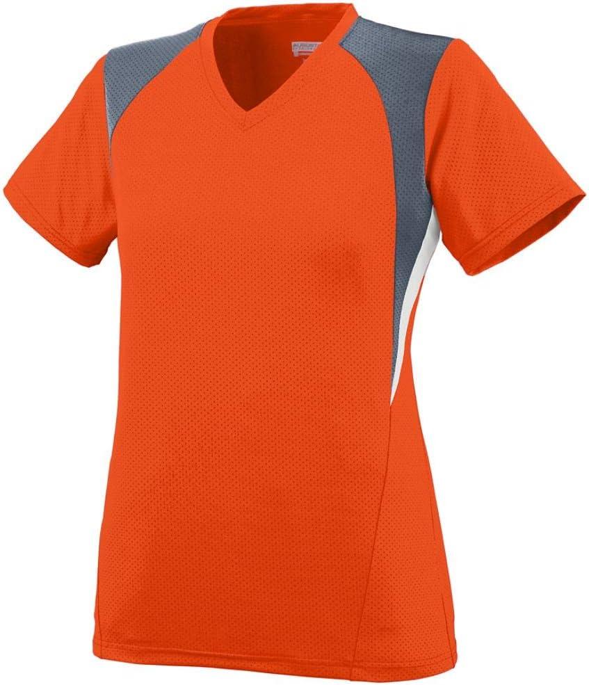 Augusta Sportswear Girls' Mystic Jersey M Orange/Graphite/White