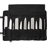 """Chefs Knife Bag(11 Slots), Knife Roll for Kitchen Knife Tools Up To 18.8"""", Heavy Duty Waxed Canvas Japanese Knife Set…"""