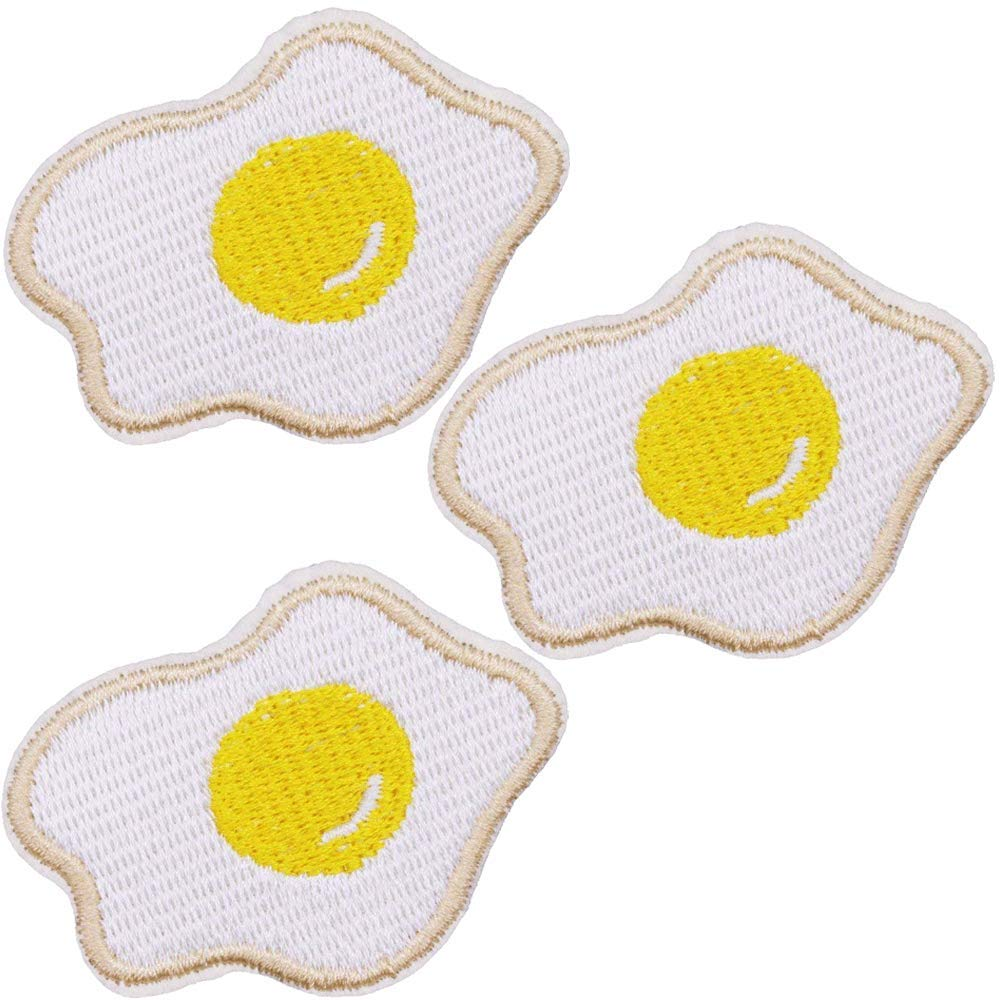 Size: 3.3x4.1inch Hats Backpacks 3.1x2.5inch Yellow Peeled Banana Patch for Jackets Jeans 2.2x1.7inch Pack of 3pcs U-Sky Sew or Iron on Patches for Kids Clothing