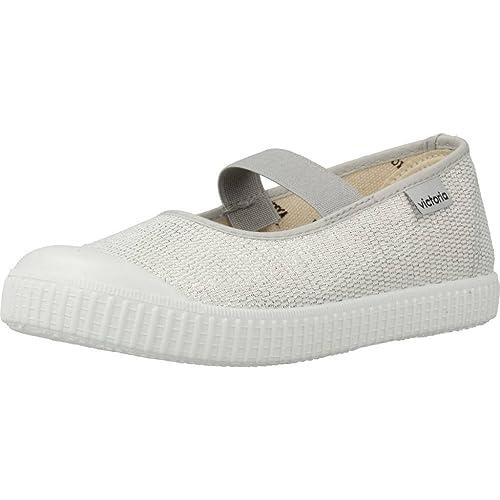 Zapatillas para niña, Color Plateado, Marca VICTORIA, Modelo Zapatillas para Niña VICTORIA 1366102 Plateado: Amazon.es: Zapatos y complementos