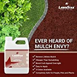 LawnStar Red Mulch Paint, 32 fl. oz. - Makes Faded, Colorless Mulch Look New Again - Cost Effective, Eco-Friendly Dye Solution for Old Mulch