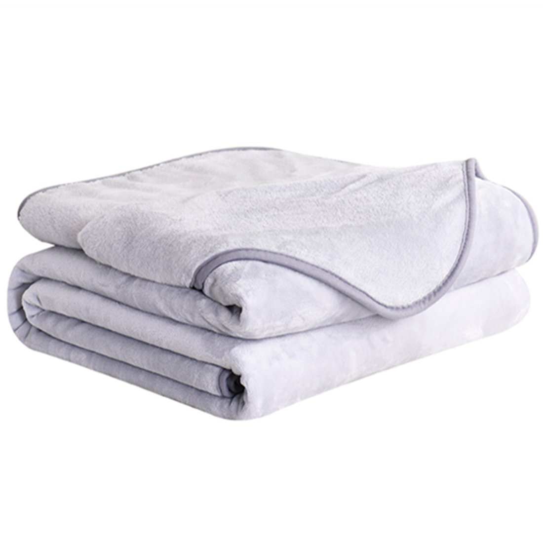 DREAMFLYLIFE Fleece Blanket 380 GSM Anti-static Super Soft Lightweight Summer Cooling Warm Fuzzy Bed Blanket Couch Blanket (King, Grey)