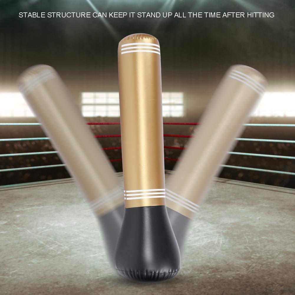150cm Oro Tbest Sacos de Suelo,Saco de Boxeo Pesado Sacos de Suelo Saco de Boxeo 150 cm Bolsa de Boxeo Inflable Saco de Boxeo Independiente Saco de Boxeo de Pie para Ni/ños Adultos