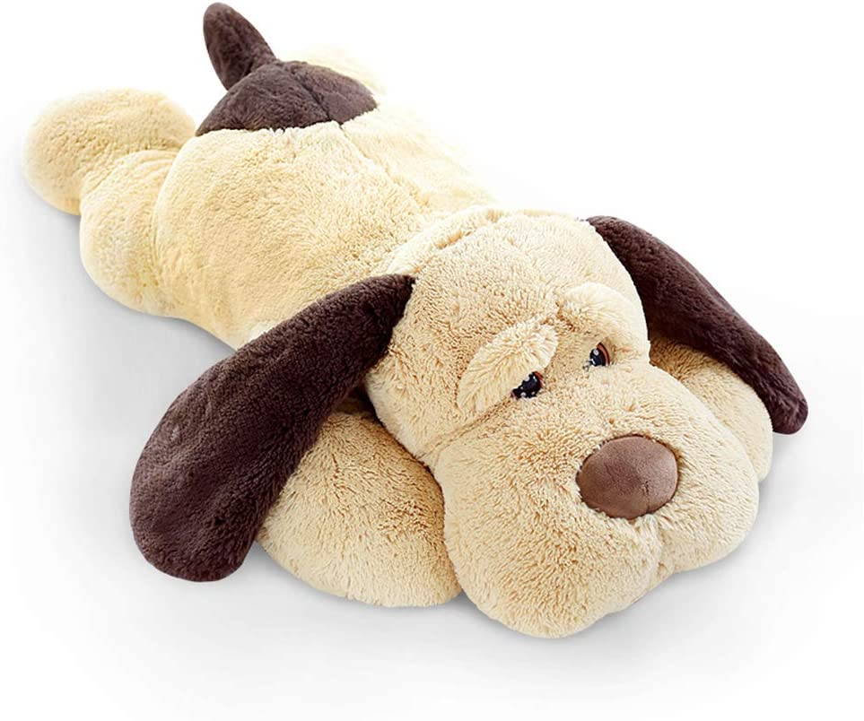 elfishgo Large Dog Plush Hugging Pillow,Soft Big Dogs Stuffed Animal Toys Giant Puppy Gifts for Kids 31 inch