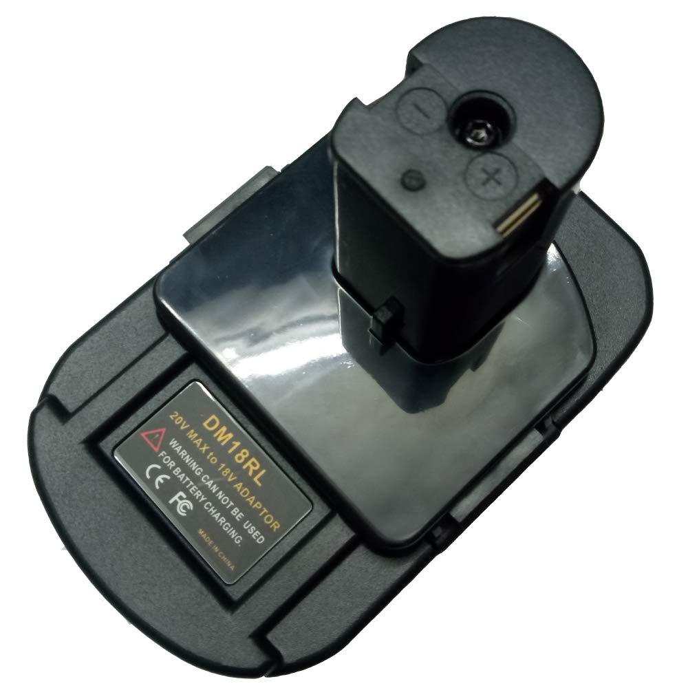 DM18RL Battery Adapter for Dewalt For Milwaukee 20V/18V Li-Ion battery For Ryobi 18V P108 ABP1801 Battery