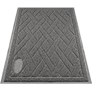 #LightningDeal 64% claimed: Pawkin Cat Litter Mat - Patented Design with Litter Lock Mesh - Durable - Easy to Clean - Soft - Fits Under Litter Box - Litter Free Floors