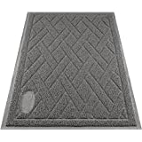 Pawkin Cat Litter Mat - Patented Design with Litter Lock Mesh - Extra Large - Durable - Easy to Clean - Soft - Fits Under Litter Box - Litter Free Floors - Gray