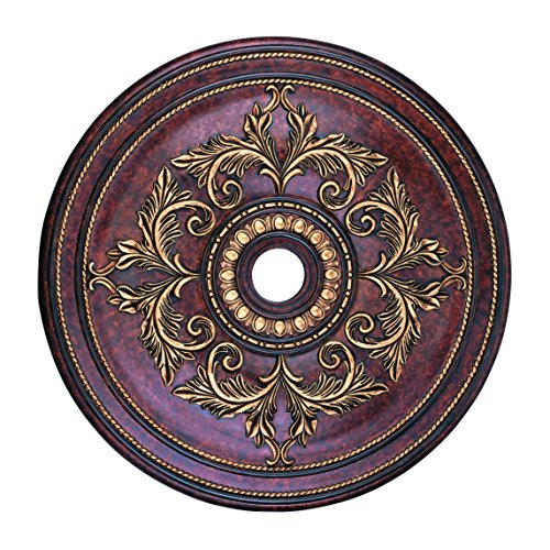 Livex Lighting 8211-63 Ceiling Medallion in Verona Bronze with Aged Gold Leaf Accents (Gold Leaf Accents)