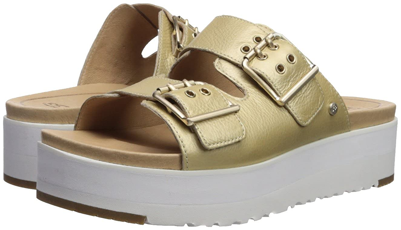 38 Chaussures En Sandales Cuir Ugg Or Femme Cammie Gold mNn08w