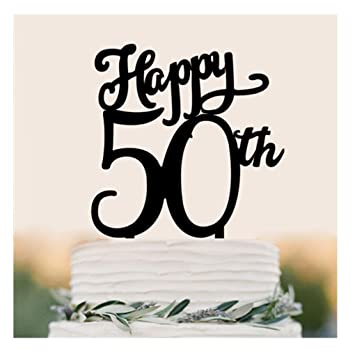 Image Unavailable Not Available For Color Happy 50TH Birthday Cake Topper