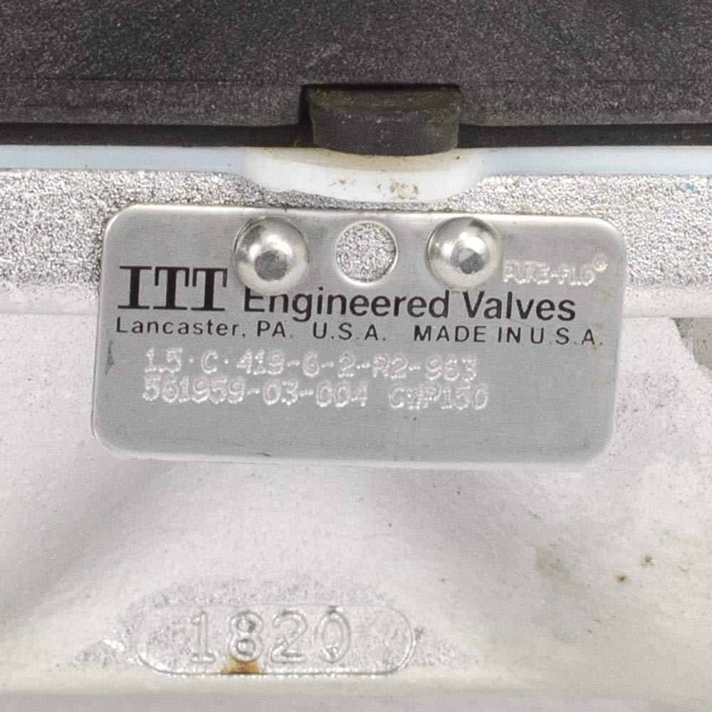 ITT 1.5 CF3M Stainless Steel Diaphragm Valve Sanitary Tri Clamp
