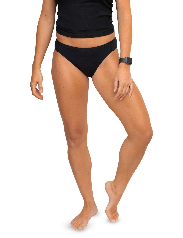 WoolX Roxie - Women's Bikini - Lightweight Merino Wool Underwear - Blk - 2XL