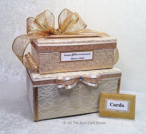 Amazon 50th Anniversary Card Box Gold Wedding Card Holder 2 – Wedding Card Holder Boxes