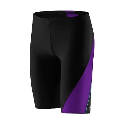 Speedo Powerflex Eco Revolve Splice Jammer Swimsuit, Purple, 22