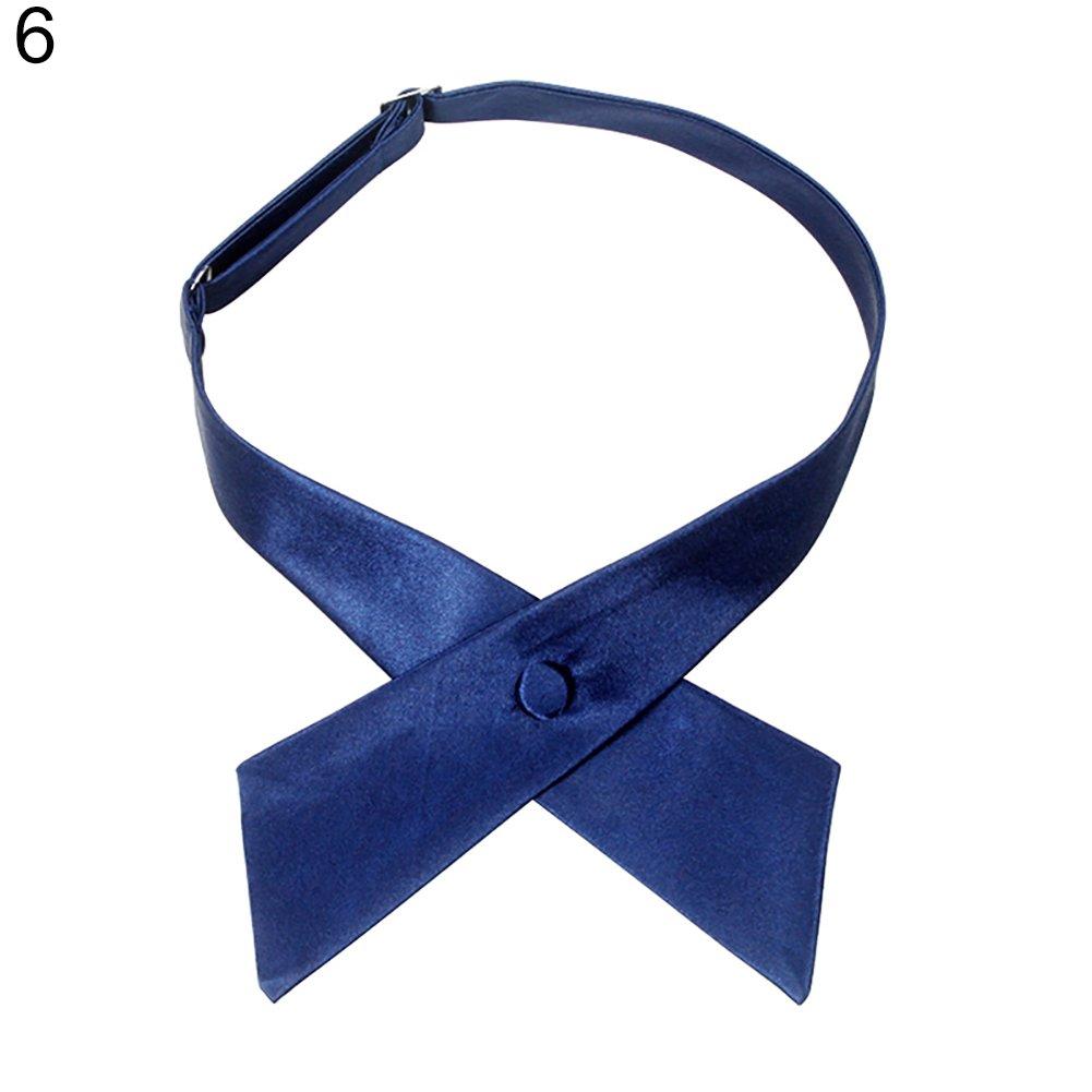 qsbai Men Women Formal Party Wedding Adjustable Cross Bow Tie Wear Accessory Gift