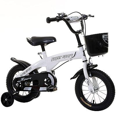 Vélos pour enfants 12/14/16/18 pouces Vélos pour garçons et filles Vélos pour enfants 3/6/8 ans Sorties en plein air Vélos pour enfants ( Color : Blanc , Size : 12 inches )