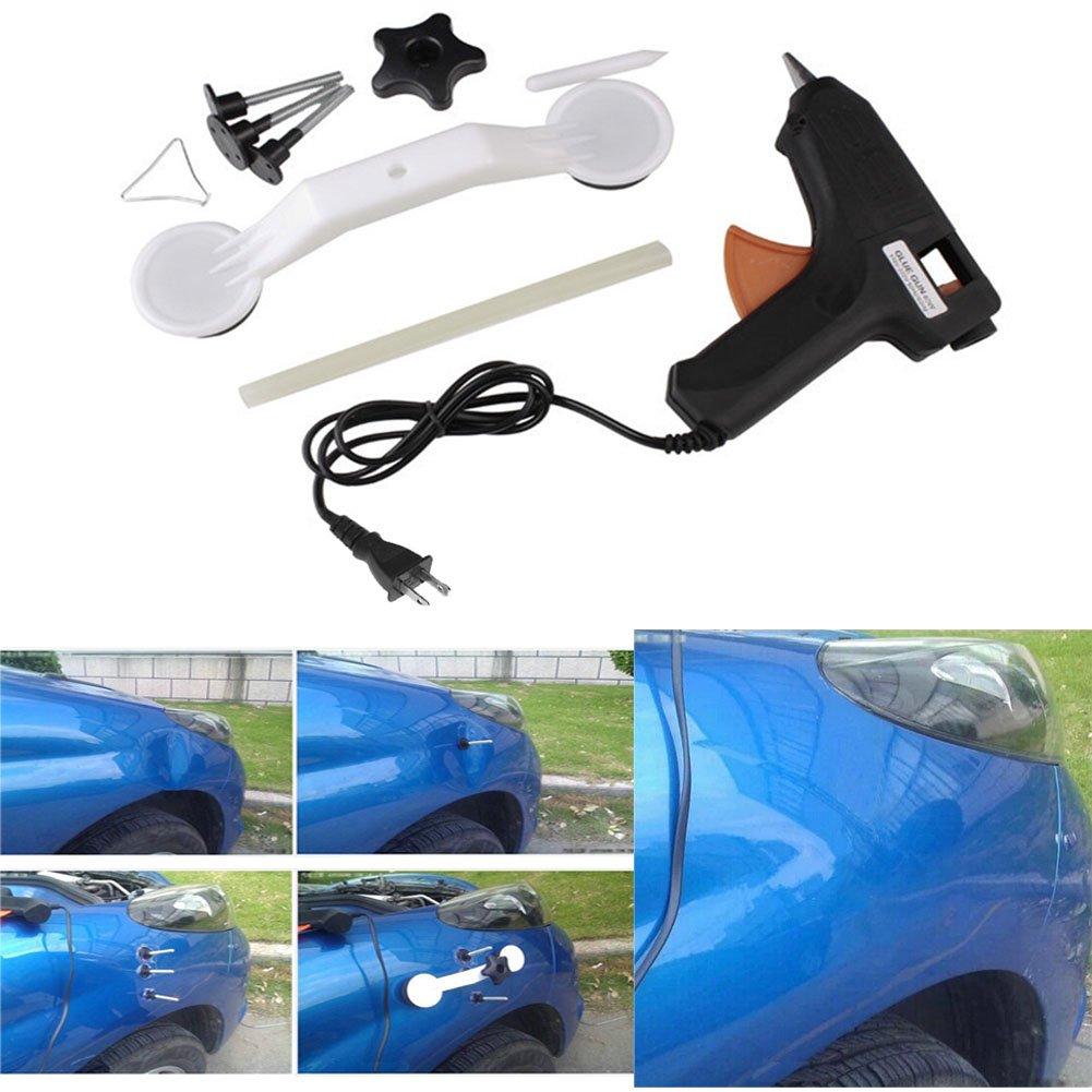piastra metallica Dent patch kit GEZICHTA riparazione ammaccature auto estrattore Suit Portable Car Dent Restorer con colla stick pistola