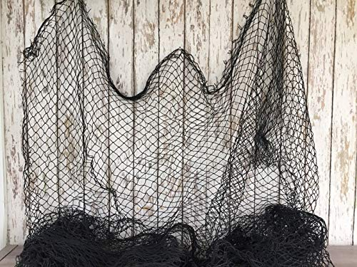 Rustic & Primitive Crafting Supplies (B) Manufactured to Look Antique Authentic Used Fishing Net ~ 5'x8' Black ~Vintage Fish Netting Fabric for Crafts Inspiration for A Project from Rustic & Primitive Crafting Supplies (B)