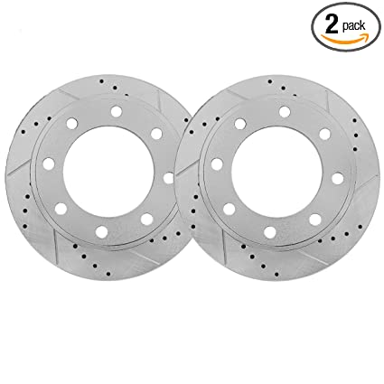 Detroit Axle 13 03 331mm Drilled Slotted Front Brake Rotors For 4wd Ford Excursion F 250 F 350 F 450 F 550 Super Duty