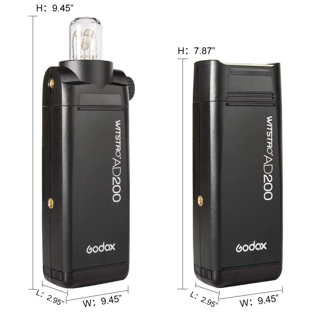 Godox AD200 TTL 2.4G HSS 1/8000s Pocket Flash Light Double Head 200Ws with 2900mAh Lithium Battery by Godox (Image #4)