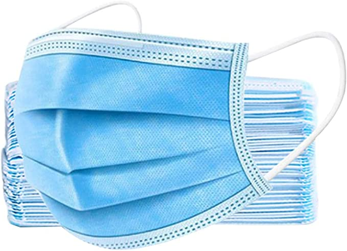50pcs Disposable Medical Mouth Face Mask Anti-Dust Cover Ear Loop Tool Blue