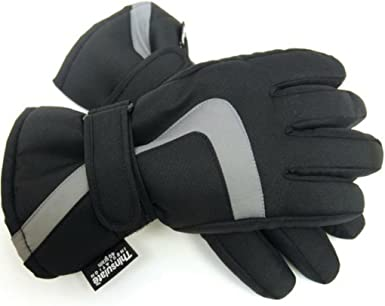 Childrens Thinsulate Fleece Gloves Black Age 6-7
