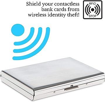 Amazon.com: Cartera de metal pulido con bloqueo RFID ...