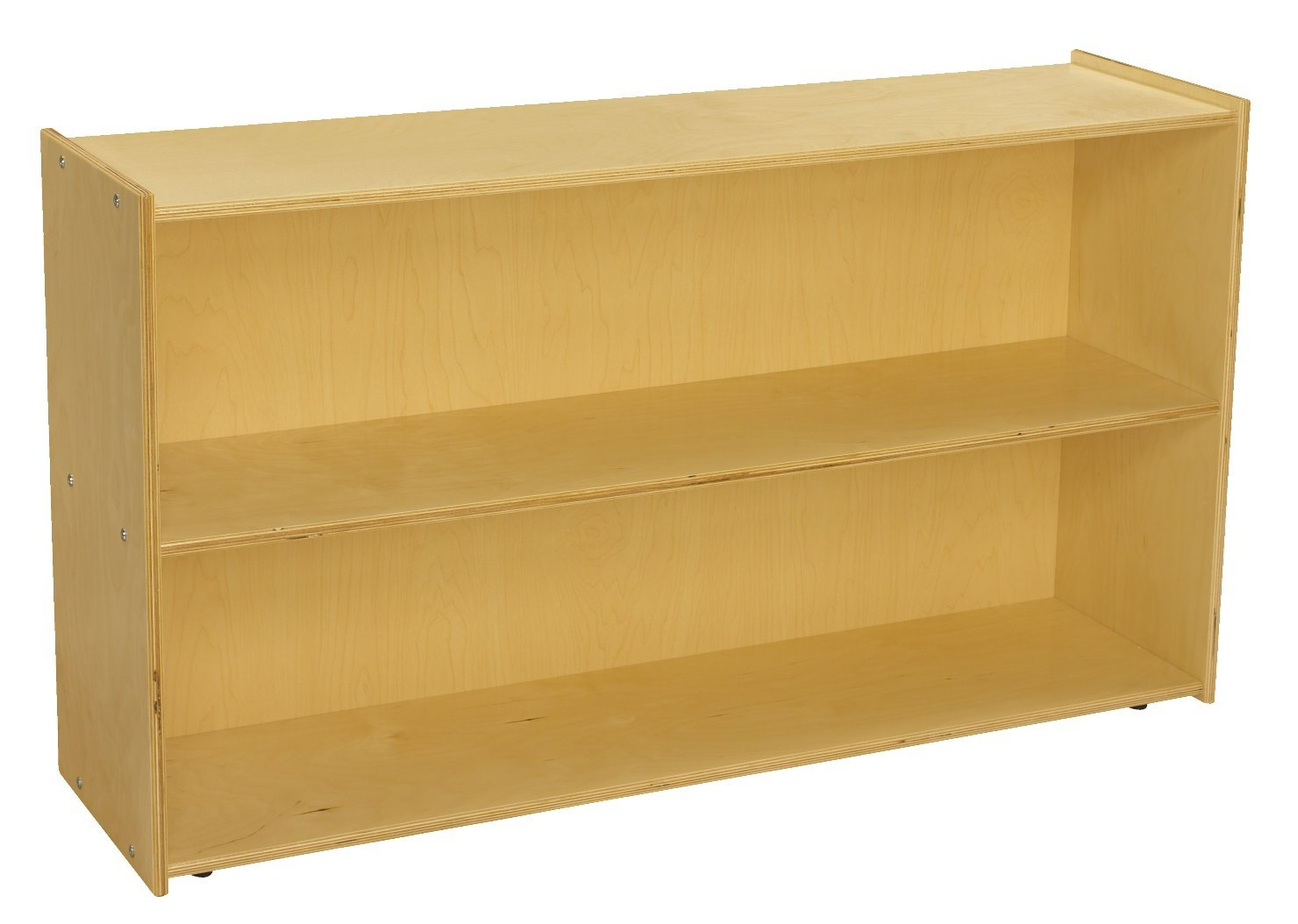Childcraft 1526296 ABC Furnishings 2-Shelf Storage Unit, 27.38'' Height, 13'' Width, 48'' Length, Natural Wood