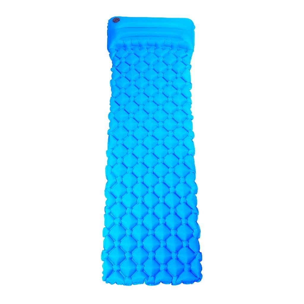 LXLA- Individuelle Aufblasbare Kissen Faltbare Luftmatratze Feuchtmatte Isomatte Isomatte Nest Tragbare Zelt Im Freien Blau 187  55  5 cm