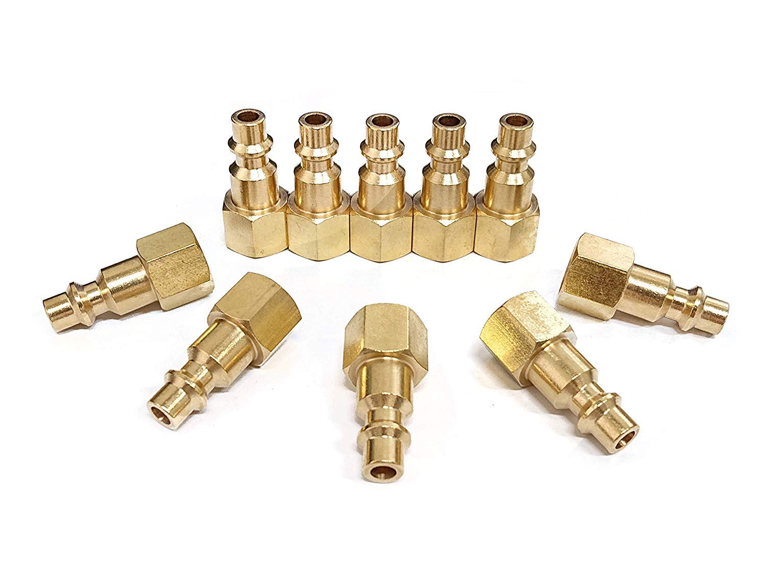 SUNGATOR 1//4-Inch Brass Female Industrial Coupler 10-Pack NPT Female Quick Conne