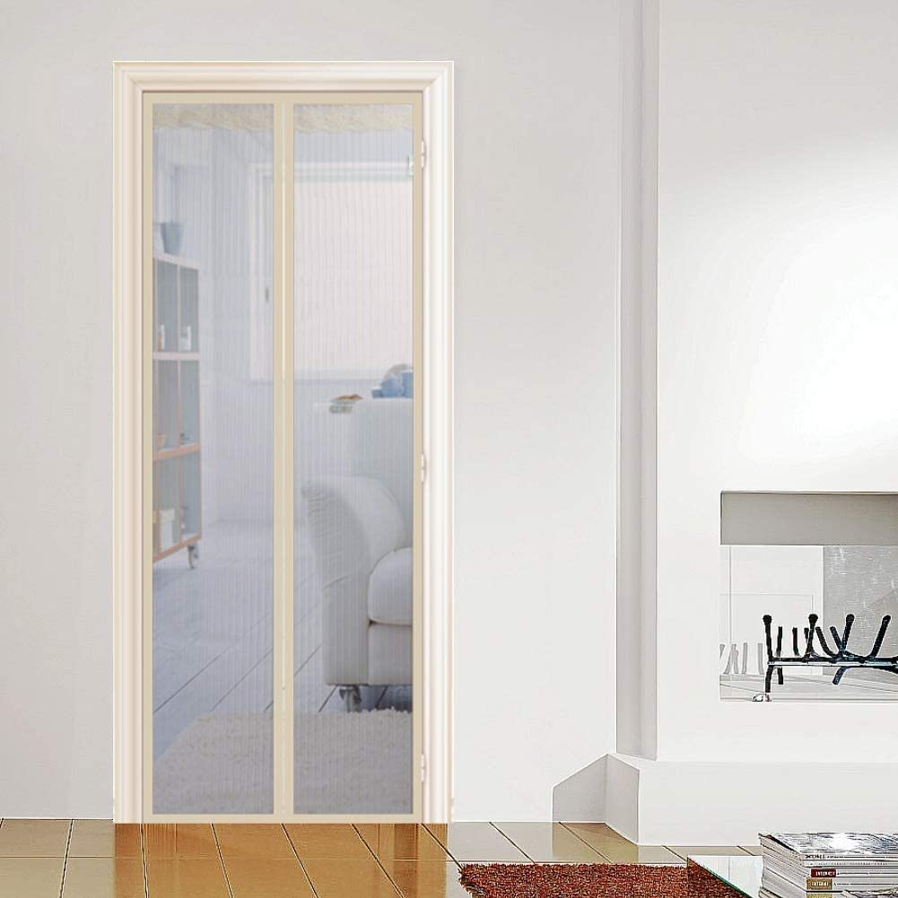 GBX Mosquitera magnética Puerta Pasta mágica Mantenga a los insectos fuera Mosquitera Puerta fácil de instalar sin perforar con marco completo reforzado para puertas corredizas de balcón,35x87 pulgad: Amazon.es: Bricolaje y herramientas