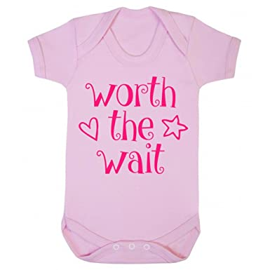 I Was Worth The Wait Printed Baby Grow