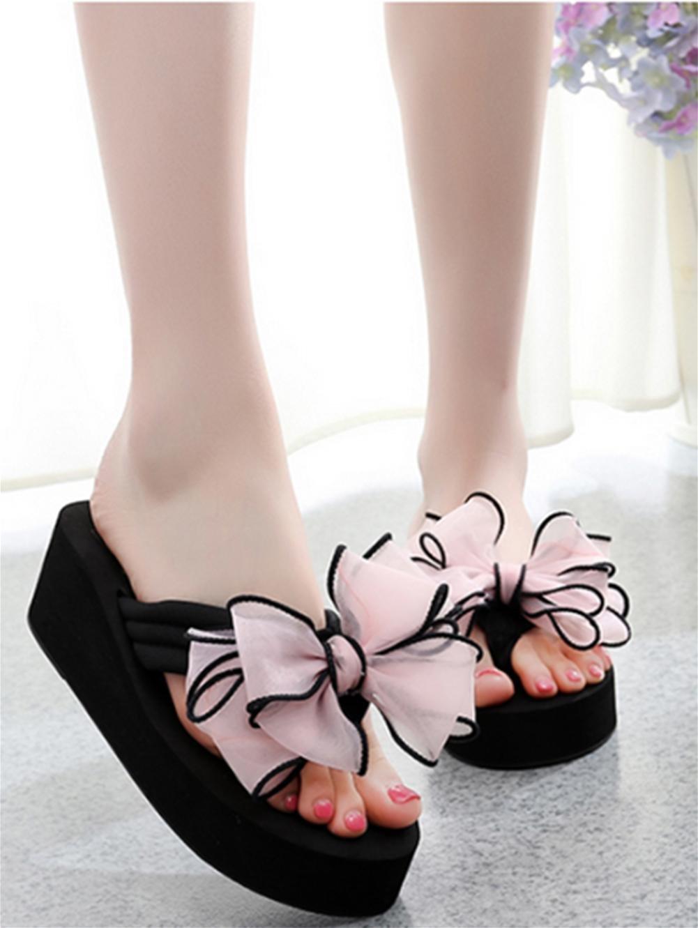 Damen Sommer Sandalen Anti-Rutsch-Clip Füße cool Pantoffeln Piste Ferse Strand Schuhe , 3 , us6.5-7 / eu37 / uk4.5-5 / cn37