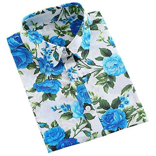 ステーキ図書館研究所KINDOYOレディースラペルストライプ模様の長袖カジュアルルーズブラウストップTシャツ - スタイル5