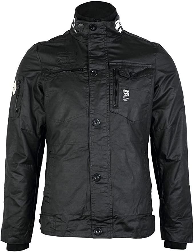 CrossHatch Herren Plixxie Finish schwarz beschichtet Full Zip Jacket