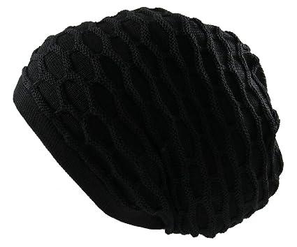 7ee8a3d5 RW Rasta 100% Cotton Dreadlock Beanie (Black) at Amazon Men's ...