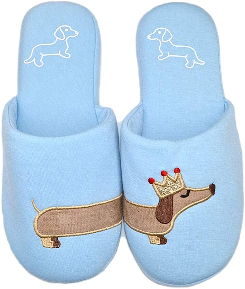 Woman House Shoes Dachshund Dog Cotton Animal Slippers Indoor Comfy Bedroom Slipper Unicorn Slippers