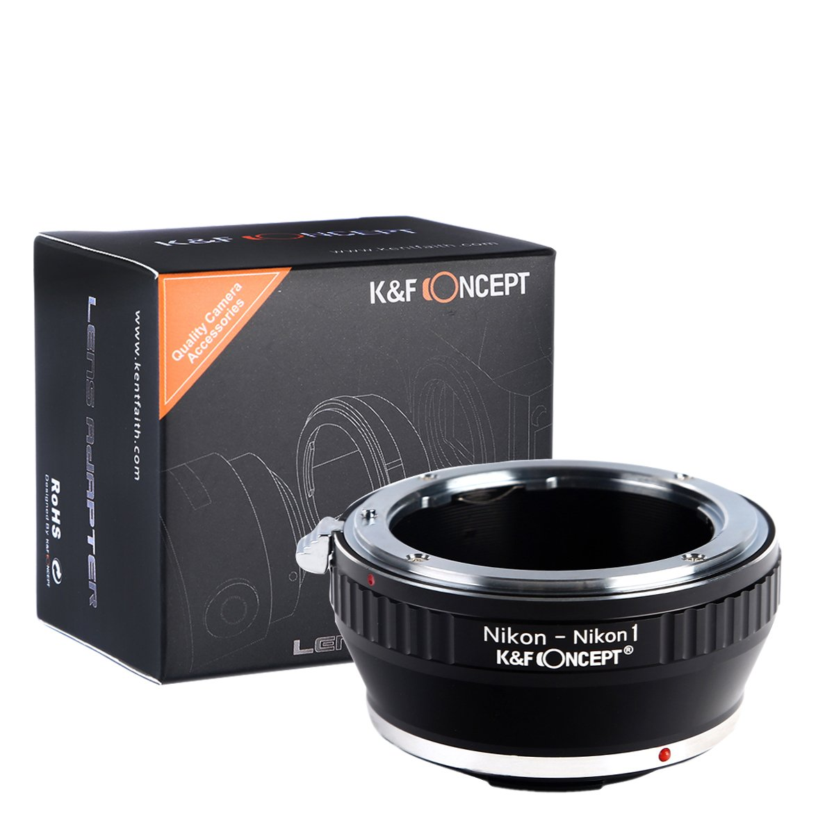 K&F Concept Lens Mount Adapter,Nikon F Mount Lens to Nikon 1-Series Camera, for Nikon V1, V2, J1, J2 Mirrorless Cameras
