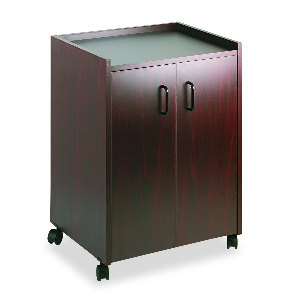 Safco Products 8953MH Mobile Refreshment Hospitality Center, Mahogany