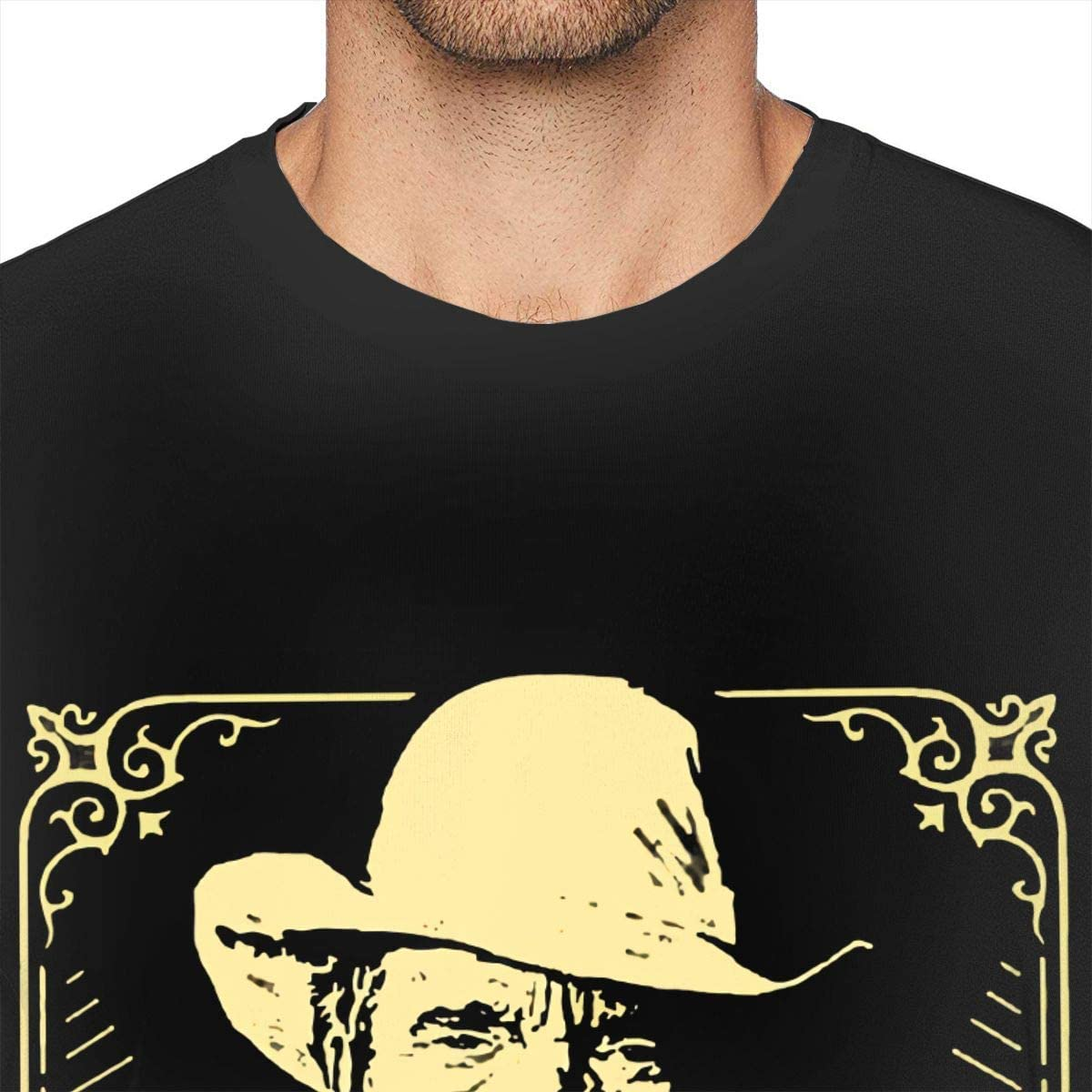 GekhHaon Cowboy Bebop Mans Pop Short Sleeves T Shirt Tees Black Cotton Short Sleeve Comfy TopsBlack