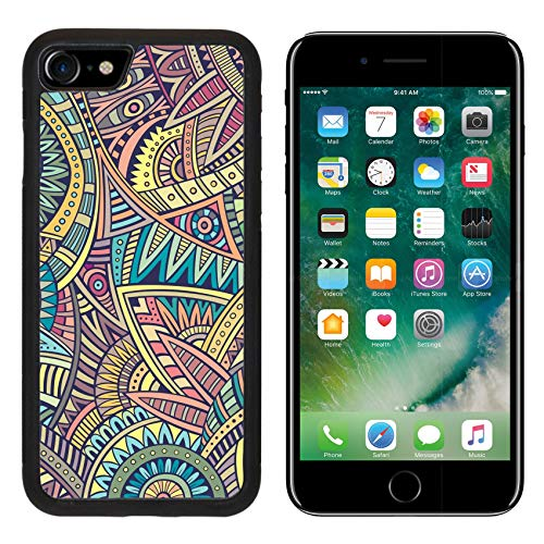 (Luxlady Apple iPhone 8 Case Aluminum Backplate Bumper Snap iPhone8 Cases Image ID: 37632601 Abstract Vintage Deco Vector Tribal Ethnic Background)
