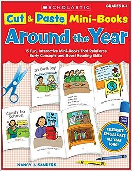 Amazon com: Cut & Paste Mini-Books: Around the Year: 15 Fun