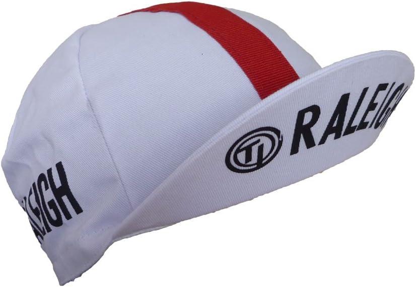 Gorra de ciclismo retro vintage Fixie Ti Raleigh blanco y rojo ...