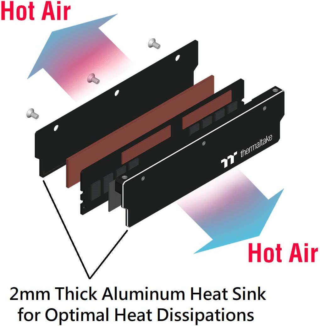 CL-W065-PL16TR-A 4-Pack Thermaltake Pacific DIY LCS 500mm Lengths V-Tubler PETG Hard Tubing OD 16mm 5//8 x ID 12mm 1//2