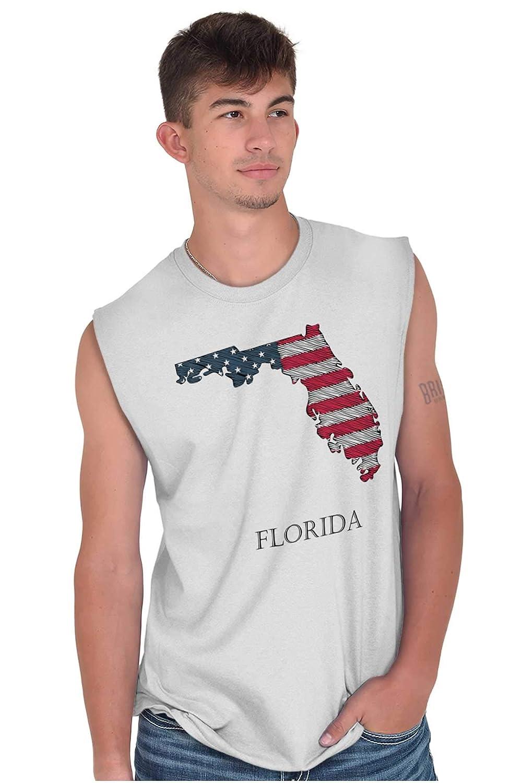 Florida United States Flag Patriotic Map FL Sleeveless T Shirt
