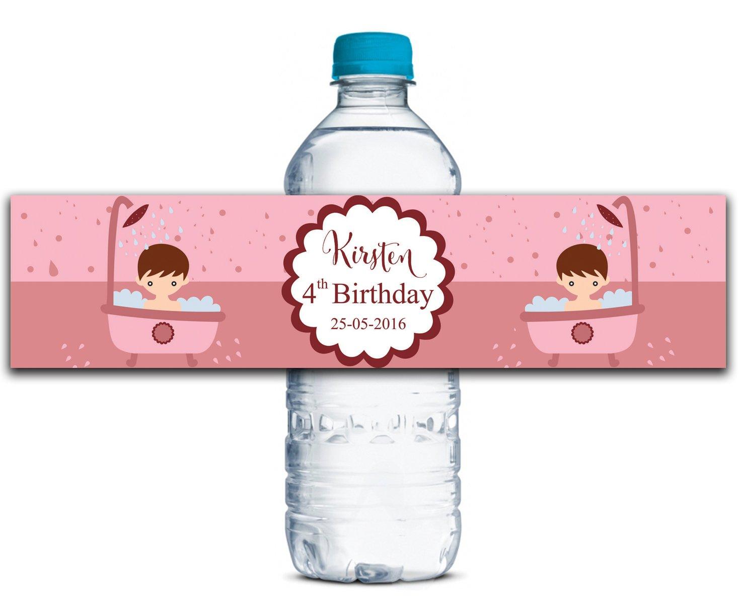 Personalisierte Wasserflasche Wasserflasche Wasserflasche Etiketten Selbstklebende wasserdichte Kundenspezifische Geburtstags-Aufkleber 8  x 2  Zoll - 50 Etiketten B01A0W18I0 | Die erste Reihe von umfassenden Spezifikationen für Kunden  a88c7b