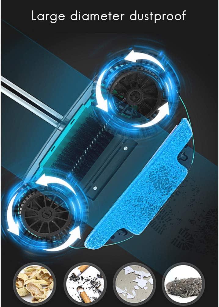 blau 106cm Weesey 1 x Magischer Besen mit Handgriff Kehrschaufel aus Edelstahl